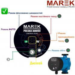 Особенности управления насосом MAREK Серии ENERGIA