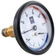 OR Термоманометр с тыльным подсоединением и клапаном