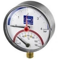 OR Термоманометр с радиальным присоединением и клапаном