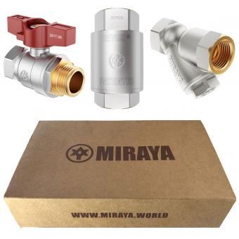Комплект для подключения счетчика расхода воды Ф1/2 MIRAYA
