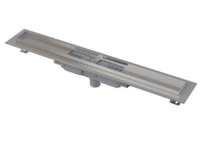 Водоотводящий желоб с краем для перфорированной решетки и с неподвижным воротником к стене