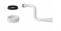 Труба гофрированная с конусной прокладкой 780мм NOVA